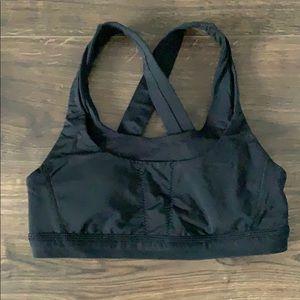 Black lulu lemon sports bra